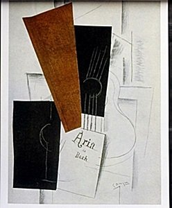"Lithograph ""aria De Bach"" After Georges Braque"