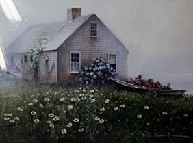 "Lithograph ""raymond's Cottage"" After Paul Landry"