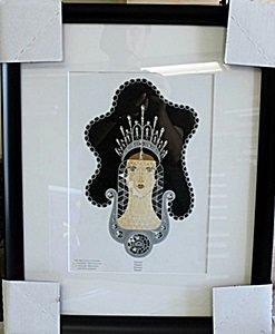 "Framed Lithograph ""diamond"" By Erte"