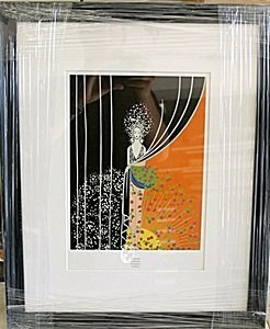 "Framed Lithograph ""fashions"" By Erte"