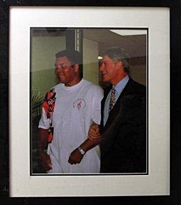 """Memorabilia """"muhammad Ali And Bill Clinton"""""""