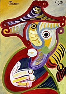 Tete D Homme - Oil Painting On Paper - Pablo Picasso