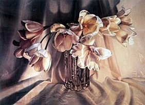 """Lithograph """"tulips"""" After Barbara Beur"""