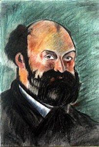 Self Portrait - Pastel Drawing - Paul Cezanne