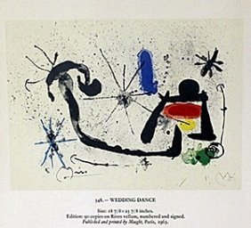 "Print ""wedding Dance"" By Joan Miro"