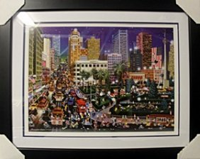 """Lithograph """"union Square"""" By Alexander Chen"""