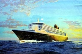 "Lithograph ""queen Mary 2"""