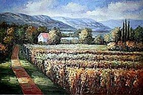 Original Oil On Canvas By Preis