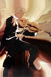 "Giclee ""classical Study Violin"" After Steve Bloom"