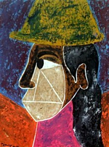 Woman With Hat 1945' - Rufino Tamayo