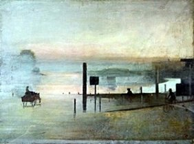 """Lithograph """"the Quiet River"""" After Victor Pasmore"""