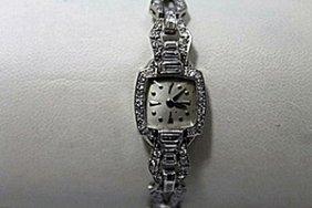 Dazzling Antique Diamonds Platinum Watch