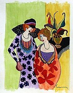 Watercolor Painting - Itzchak Tarkay