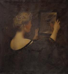American Portrait Edwardian Lady Painting