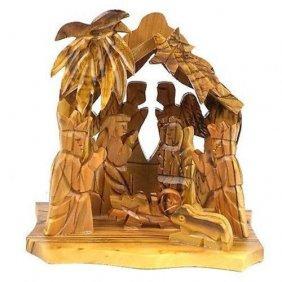 Two Angels Olive Wood Nativity - Bethlehem