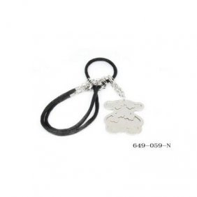 Stainless Steel Women's Teddy Bear Wholesale Necklace