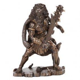 Hercules Cold Cast Bronze Statue