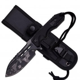 """9"""" Urban Camouflaged Fixed Blade Knife"""