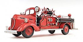Hand Made 1938 Red Fire Engine Ford 1:40th Scale Replic