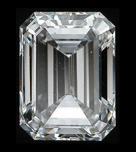 Gia Cert 1.01 Ctw Emerald Diamond F/si1