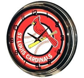 Mlb St. Louis Cardinals Neon Wall Clock