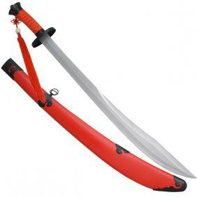 "37"" Red Broad Sword W/red Scabbard"