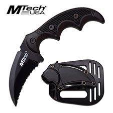 "Mtech 5"" Black Full Tang Fixed Blade Knife"