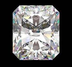 Gia Cert 0.71 Ctw Radiant Diamond F/if