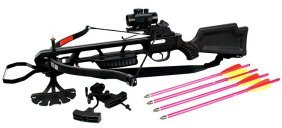 160lbs Hunting Crossbow Comes W/red Dot Sight, Quiver,