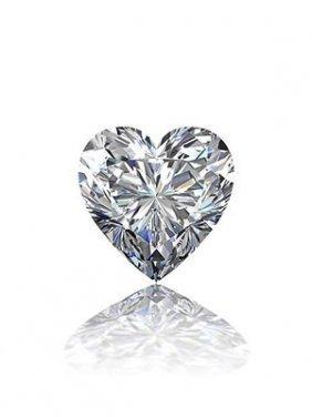 Gia Cert 0.75 Ctw Heart Diamond K/vs2
