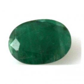 Genuine 3.72 Ctw Emerald Oval Cut