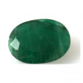 Genuine 1.48 Ctw Emerald Oval Cut
