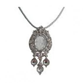 Dazzling Rhinestones Cameo Pendant Mother Gift Necklace