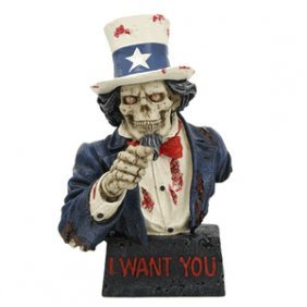 Zombie Uncle Sam Figurine