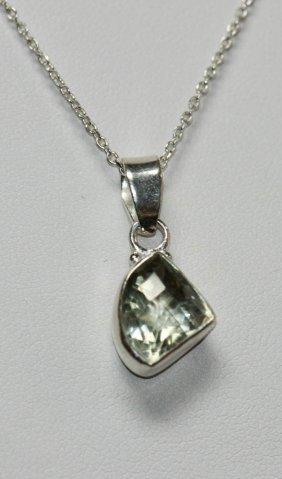 Natural Semi-precious Pendant 1.75 Ctw .925 Sterling Si