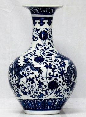 Oriental Antique Style Dragon Design Chinese Porcelain