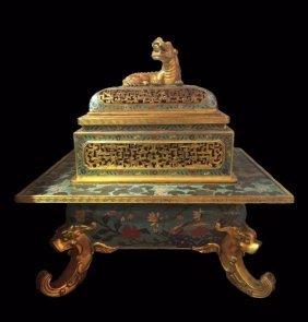 Fine Antique Chinese Cloissonne Censer
