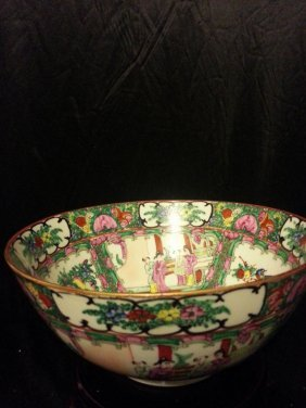 Antique Chinese Famille Rose Porcelain Bowl