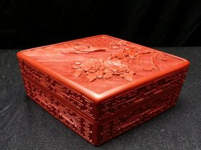 Chinese Cinnabar Lacquered Box
