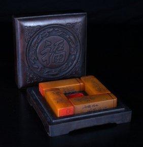 Chinese Tianhuang Steals Iin Zitan Wood Box