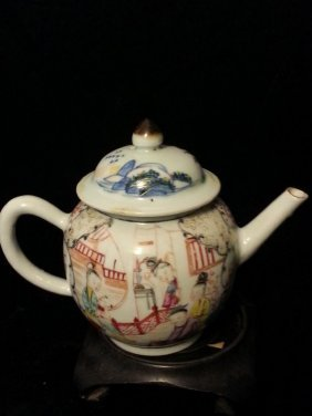 Antique Chinese Famille Rose Teapot Early 18th