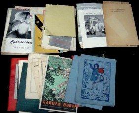 Lot Of Vintage Paper, Booklets, Manuals