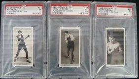 1928 Ogden's Pugilists In Action Graded Cards (3)