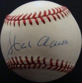 Hank Aaron Single Signed Baseball, JSA