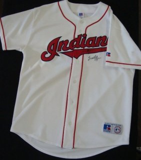 Mike Hargrove Buddy Bell Signed Indians Jersey