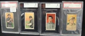 (4) Vintage Pre-40 Graded Cards. T206 Ball Sovereig