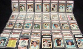 (40) 1972 Topps Graded Card Lot, G Perry PSA 7. Cha