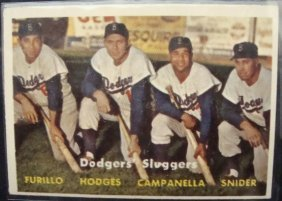 1957 Topps #400 Dodgers Sluggers