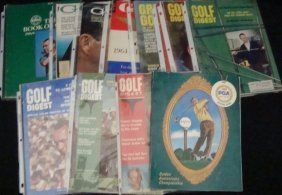 Lot Of Vintage 1960's Golf Mags & PGA Programs