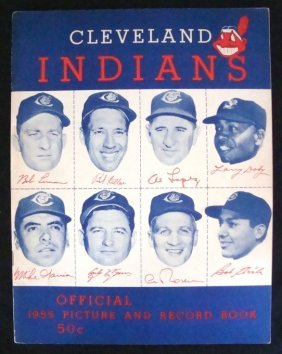 1955 Cleveland Indians Picture & Record Book